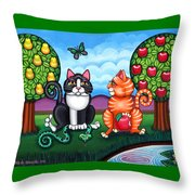 Atom And Eva Throw Pillow