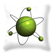 Atom Structure Throw Pillow by Johan Swanepoel