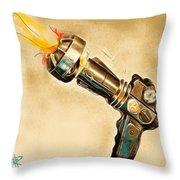 Atomic Blaster Throw Pillow
