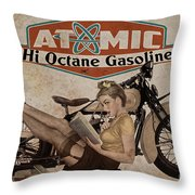 Atomic Gasoline Throw Pillow by Cinema Photography