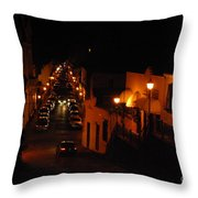 Atop Calle Hostos At Night Horizontal Throw Pillow