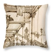 Atrium Of A Palace, In Genes, From Art Throw Pillow
