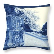 Atsugi Pillbox Walk  E Throw Pillow