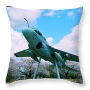 Atsugi Prowler M Throw Pillow