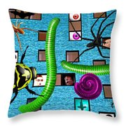 Attack Of The Giant... Throw Pillow