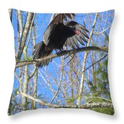 Attack Of The Turkey Vulture Throw Pillow