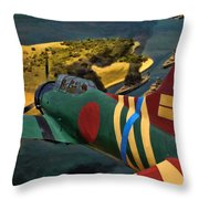 Attack On Battleship Row Throw Pillow