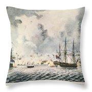 Attack On Fort Mifflin, 1777 Throw Pillow