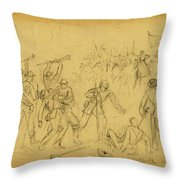 Attack On The Rear Guard. Amelia Ct. Ho. Throw Pillow