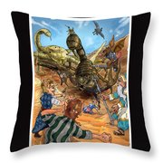 Attacked By Scorpions Throw Pillow