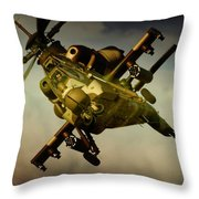 Attacking Rooivalk Throw Pillow