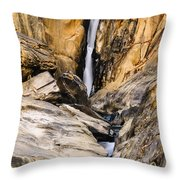 Attagar Falls In Western Ghats Throw Pillow