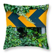 Attention Road Sign  Throw Pillow