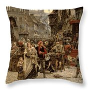 Atterdag Holding Visby To Ransom 1361 Throw Pillow