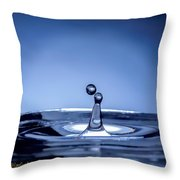 Attraction Water Droplets Throw Pillow