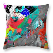 Attributes Of Aggression Three Throw Pillow