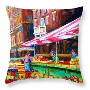 Atwater Market   Throw Pillow