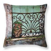 Au Balcon Throw Pillow
