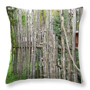 Au-natural Privacy Screen Throw Pillow