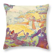 Au Temps Dharmonie Throw Pillow