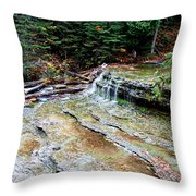 Au Train Falls II Throw Pillow