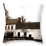 Auberge De La Roseraie Throw Pillow