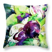 Aubergine Mirage Throw Pillow