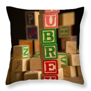 Aubrey - Alphabet Blocks Throw Pillow