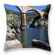 Auburn No Hands Quarry Bridge Throw Pillow