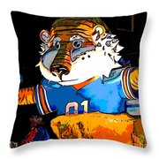 Auburn Tiger Throw Pillow