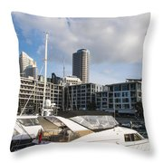 Auckland City View Throw Pillow