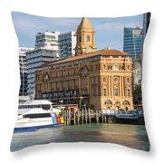 Auckland Ferry Terminal Throw Pillow