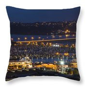 Auckland Marina Throw Pillow