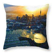 Auckland Oil On Canvaz Throw Pillow