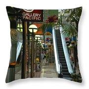 Auckland Shopping Mall Throw Pillow