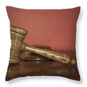 Auction Hammer Throw Pillow