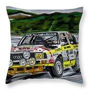 Audi Quattro Throw Pillow
