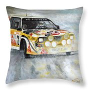 1985 Audi Quattro S1 Throw Pillow