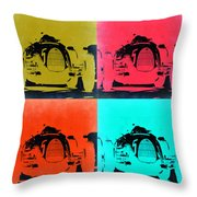 Audi Silver Arrow Pop Art 2 Throw Pillow