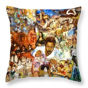 Audience With The Geniuses Of Art Throw Pillow