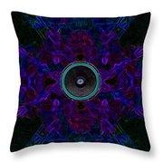 Audio Purple Glow Throw Pillow