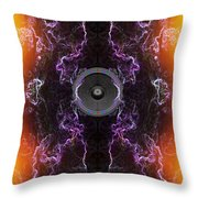 Audio Purple Orange Throw Pillow