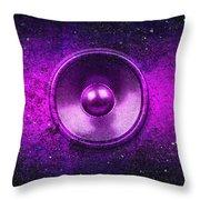 Audio Purple Throw Pillow
