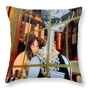 Audrey And Whoopie Throw Pillow
