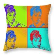 Audrey Hepburn 20130330v2 Four Throw Pillow