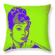 Audrey Hepburn 20130330v2p38 Square Throw Pillow