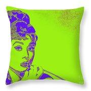 Audrey Hepburn 20130330v2p38 Throw Pillow