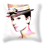 Audrey Hepburn 6 Throw Pillow