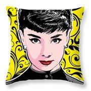 Audrey Hepburn Pop Art Throw Pillow