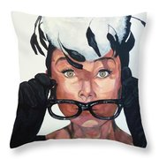 Audrey Hepburn Throw Pillow by Tom Roderick